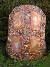 Bronze shield by Thrussell & Thrussell