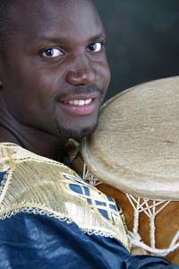 Denis Kigongo with drum