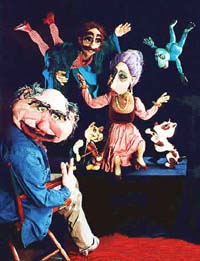 Puppet characters from Jacolly Puppet Theatre