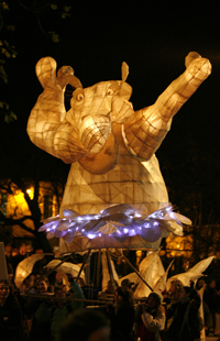 Hippo by University College Falmouth at City of Lights 2008